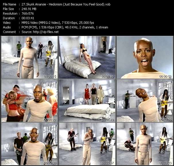 Skunk Anansie HQ Videoclip «Hedonism (Just Because You Feel Good)»