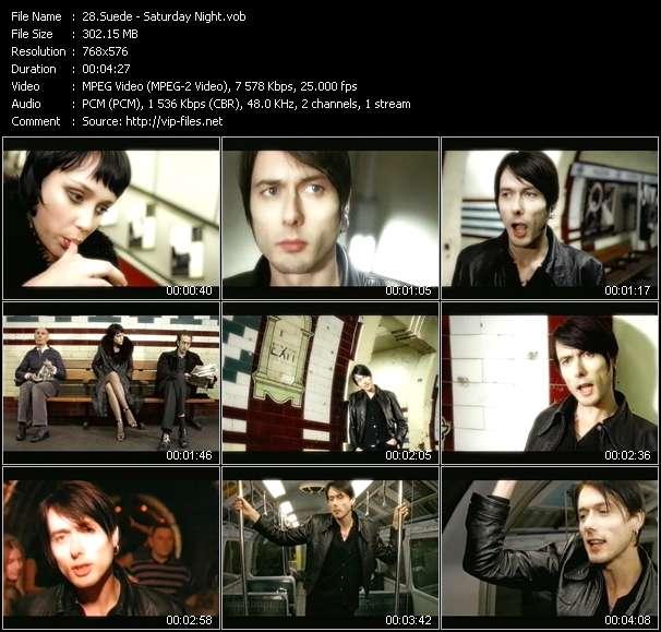 Suede HQ Videoclip «Saturday Night»