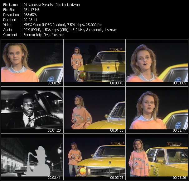 Vanessa Paradis video - Joe Le Taxi