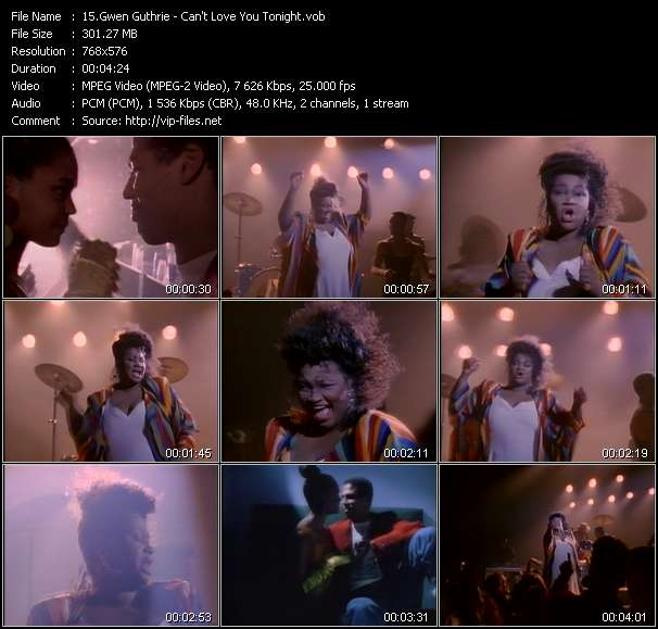 Gwen Guthrie HQ Videoclip «Can't Love You Tonight»