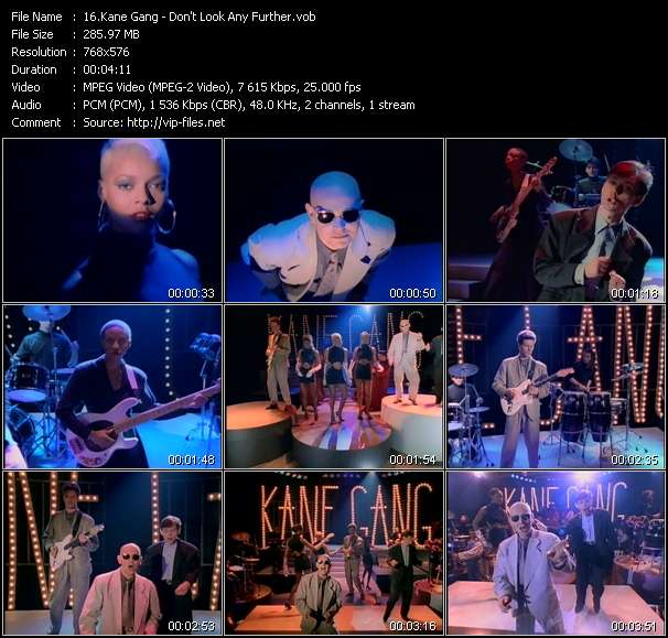 Kane Gang HQ Videoclip «Don't Look Any Further»