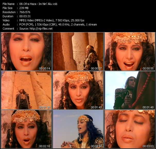 Ofra Haza HQ Videoclip «Im Nin' Alu»