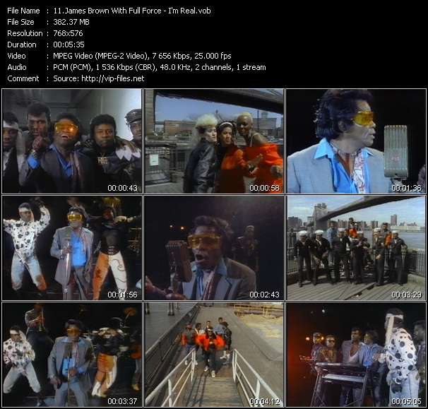 James Brown With Full Force HQ Videoclip «I'm Real»