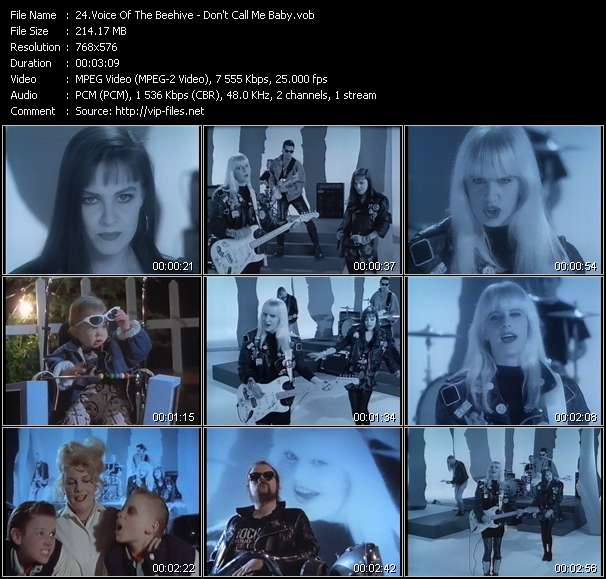 Voice Of The Beehive HQ Videoclip «Don't Call Me Baby»