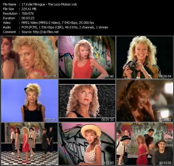 Kylie Minogue video - The Loco-Motion