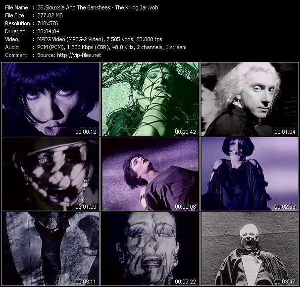 Siouxsie And The Banshees video - The Killing Jar