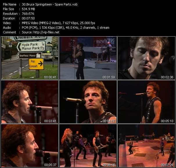 Bruce Springsteen video - Spare Parts