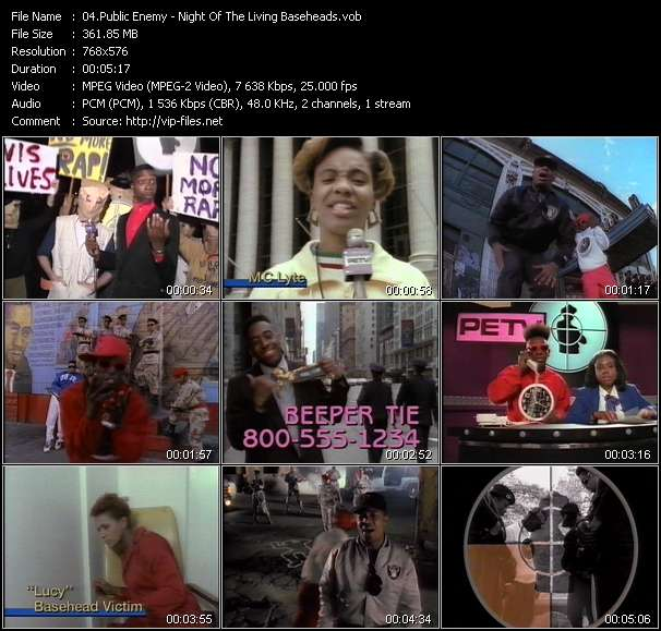 Public Enemy video - Night Of The Living Baseheads