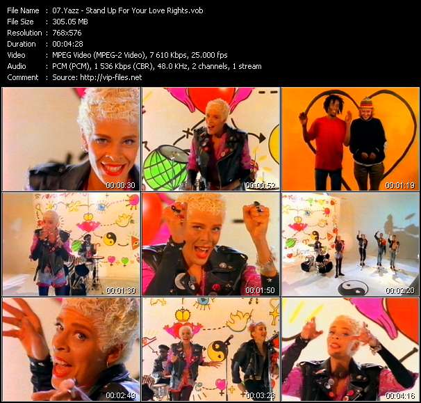Yazz video - Stand Up For Your Love Rights