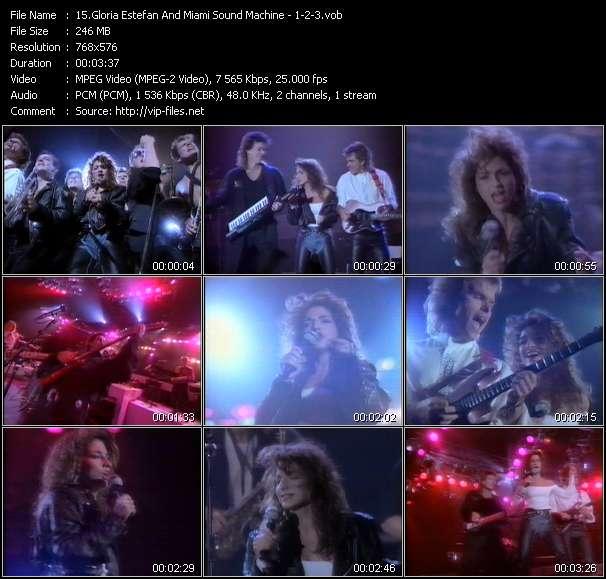 Gloria Estefan And Miami Sound Machine video - 1-2-3