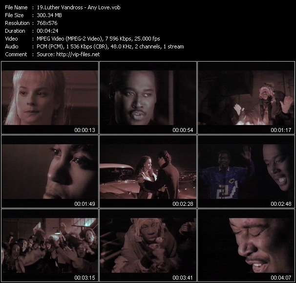 Luther Vandross video - Any Love
