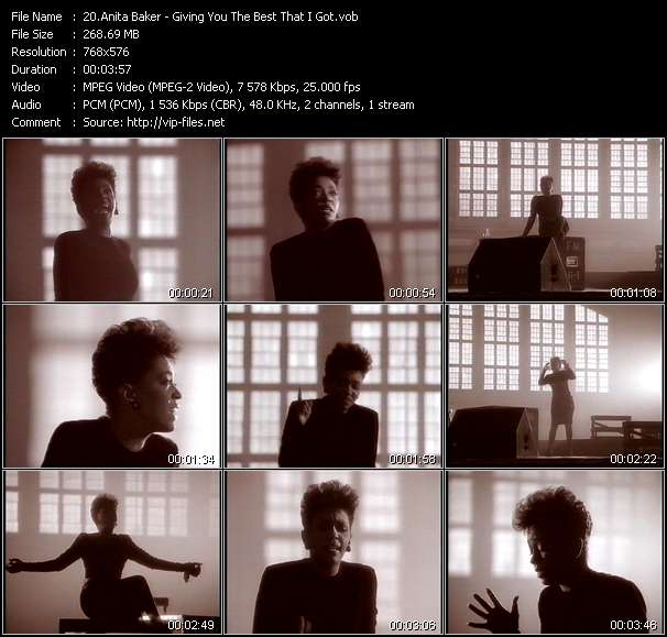 Anita Baker video - Giving You The Best That I Got