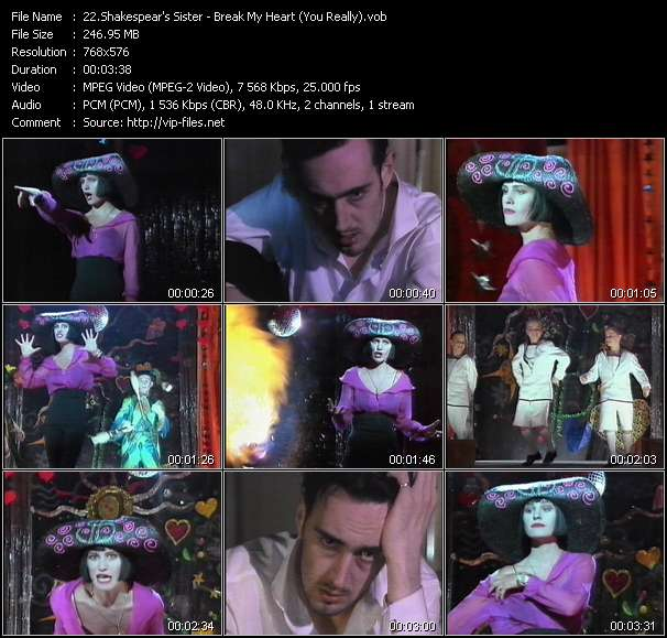 Shakespear's Sister video - Break My Heart (You Really)