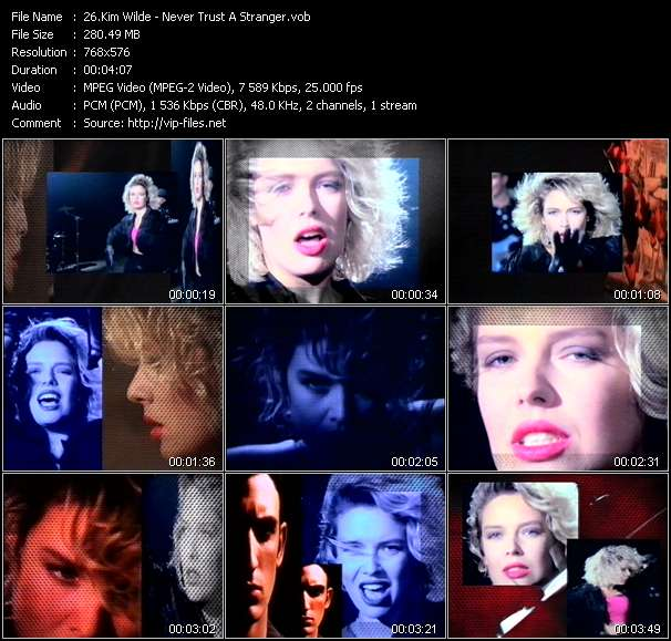 Kim Wilde video - Never Trust A Stranger