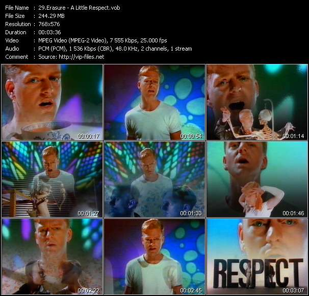 Erasure video - A Little Respect