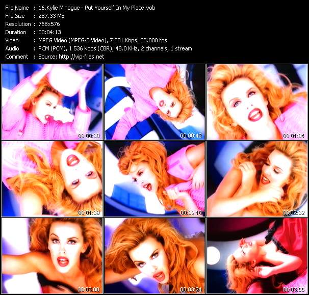Kylie Minogue video - Put Yourself In My Place