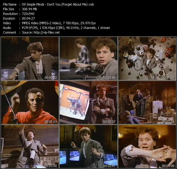 Simple Minds HQ Videoclip «Don't You (Forget About Me)»