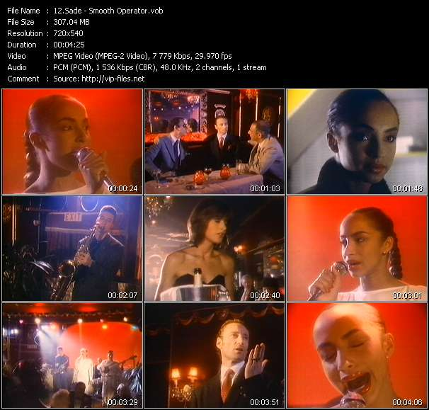 Sade HQ Videoclip «Smooth Operator»