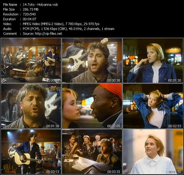 Toto music video Novafile