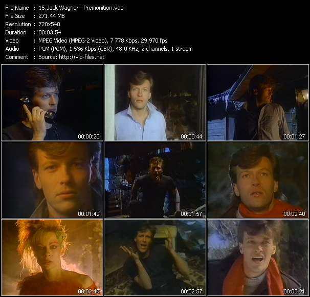 Jack Wagner video - Premonition