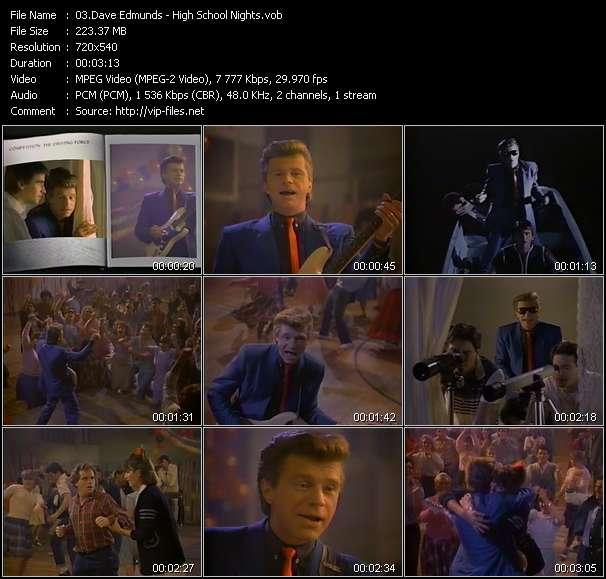 Dave Edmunds HQ Videoclip «High School Nights»