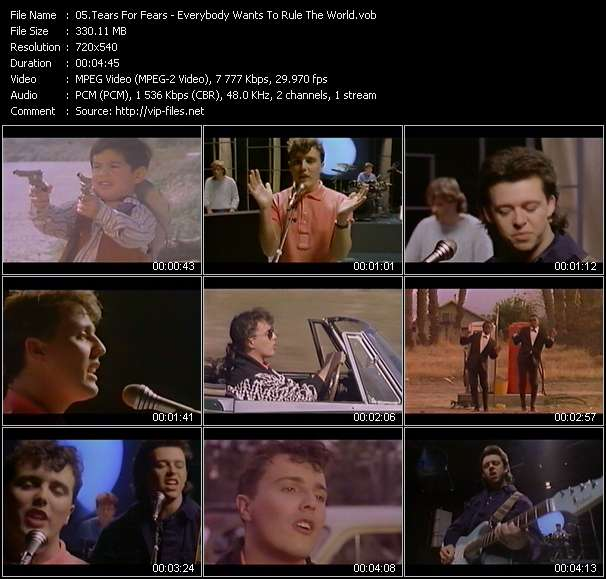 Tears For Fears HQ Videoclip «Everybody Wants To Rule The World»