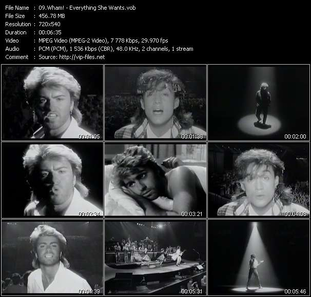 Wham! HQ Videoclip «Everything She Wants»