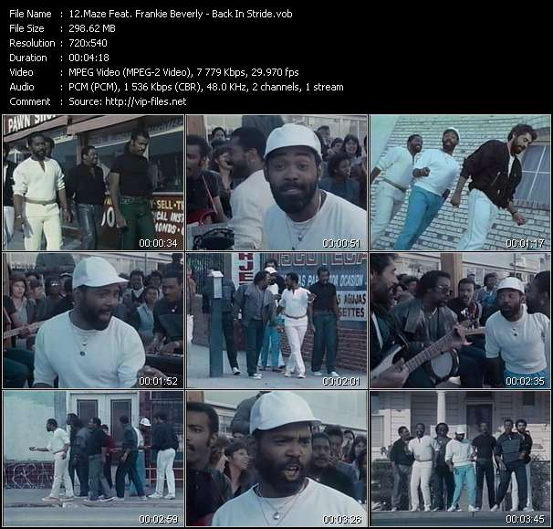 Maze Feat. Frankie Beverly HQ Videoclip «Back In Stride»