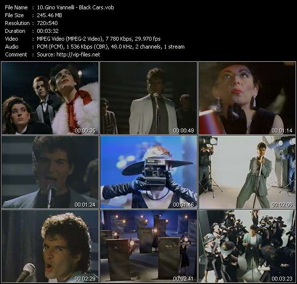 Gino Vannelli HQ Videoclip «Black Cars»