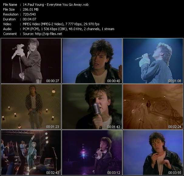 Paul Young HQ Videoclip «Everytime You Go Away»