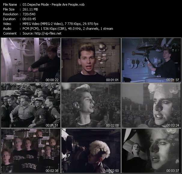 Depeche Mode HQ Videoclip «People Are People»