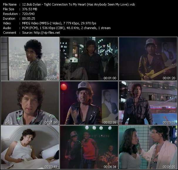 Bob Dylan HQ Videoclip «Tight Connection To My Heart (Has Anybody Seen My Love)»