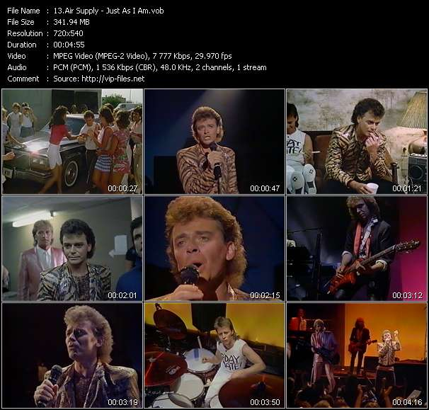 Air Supply HQ Videoclip «Just As I Am»