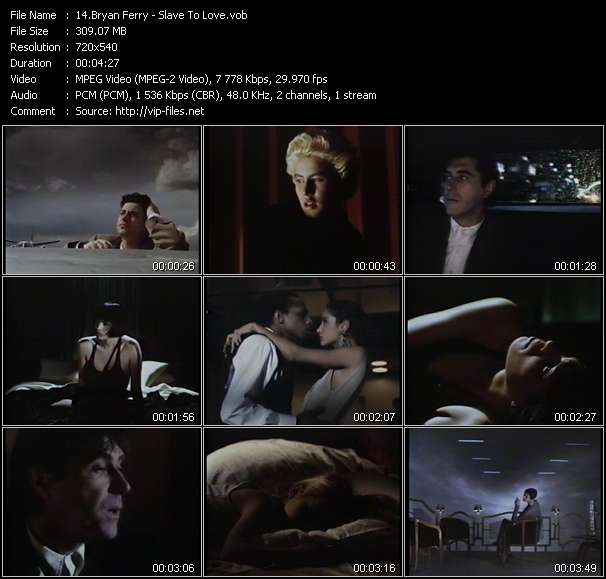 Bryan Ferry HQ Videoclip «Slave To Love»