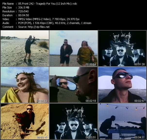 Front 242 HQ Videoclip «Tragedy For You (12 Inch Mix)»