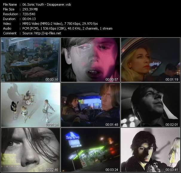 Sonic Youth HQ Videoclip «Disappearer»