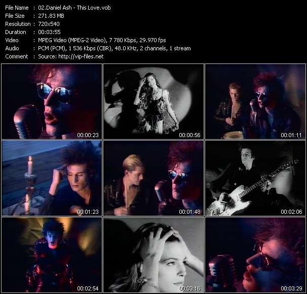Daniel Ash HQ Videoclip «This Love»