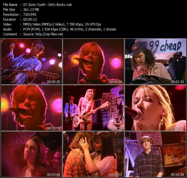 Sonic Youth video - Dirty Boots