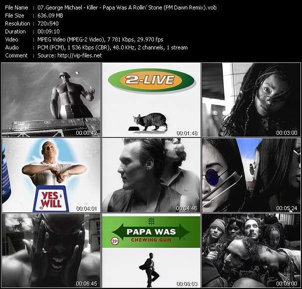 George Michael HQ Videoclip «Killer - Papa Was A Rollin' Stone (PM Dawn Remix)»