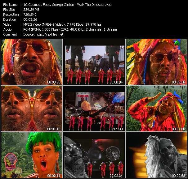 Goombas Feat. George Clinton HQ Videoclip «Walk The Dinosaur»
