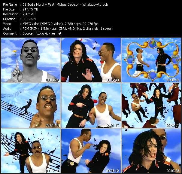 Eddie Murphy Feat. Michael Jackson HQ Videoclip «Whatzupwitu»