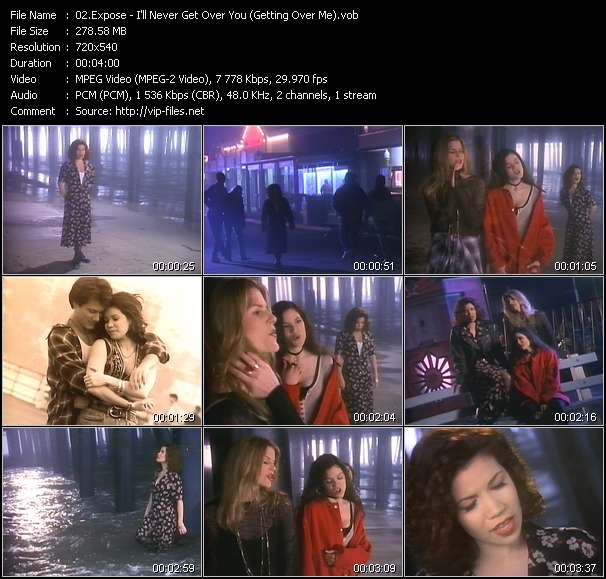 Expose HQ Videoclip «I'll Never Get Over You (Getting Over Me)»