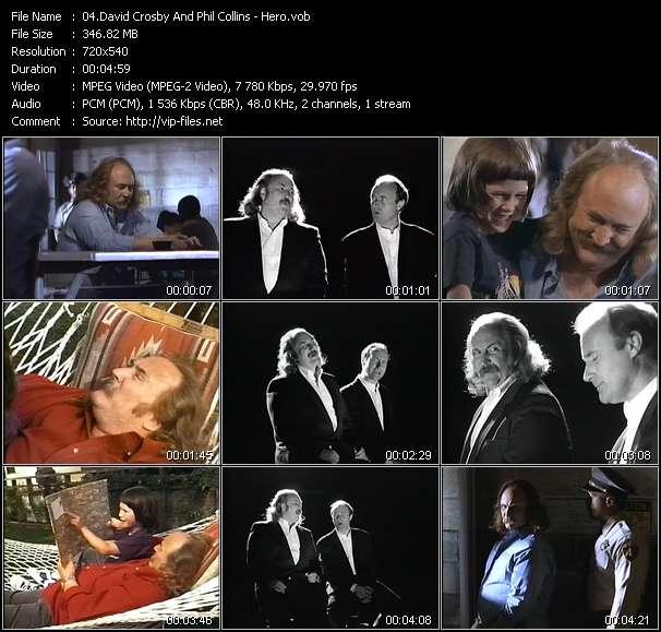 David Crosby And Phil Collins HQ Videoclip «Hero»