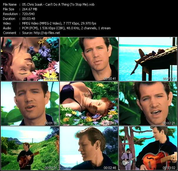 Chris Isaak HQ Videoclip «Can't Do A Thing (To Stop Me)»