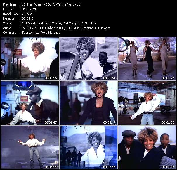 Tina Turner HQ Videoclip «I Don't Wanna Fight»