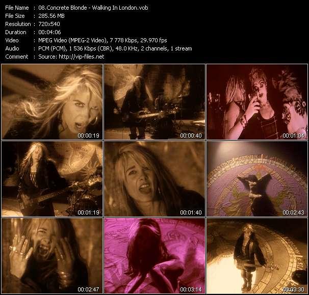 Concrete Blonde HQ Videoclip «Walking In London»