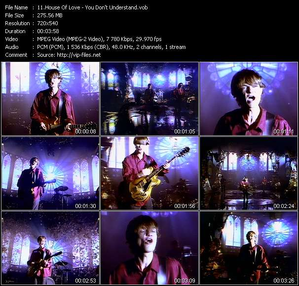 House Of Love HQ Videoclip «You Don't Understand»