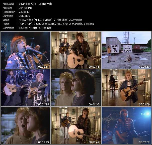Indigo Girls HQ Videoclip «Joking»
