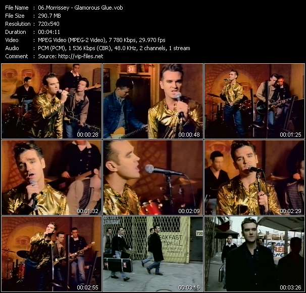 Morrissey video - Glamorous Glue