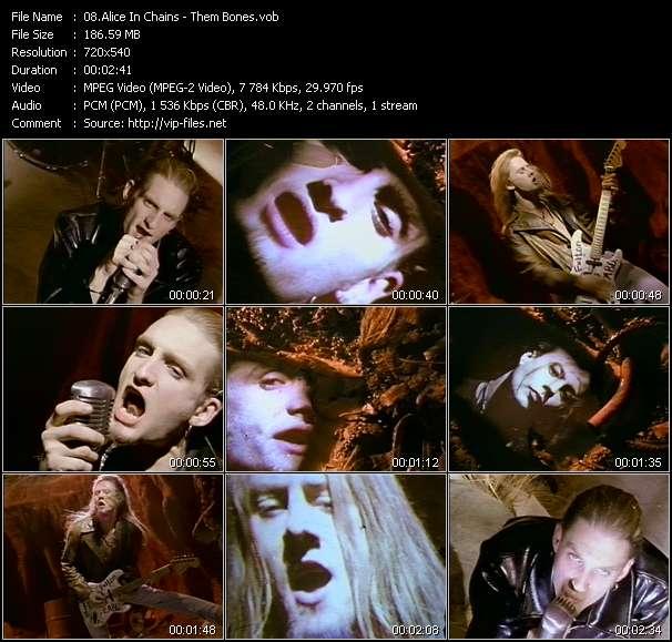 Alice In Chains video - Them Bones